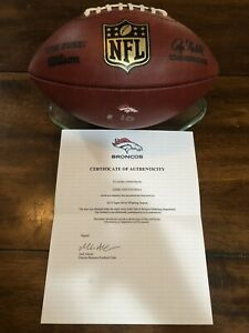 🇺🇸🏈 Denver Broncos 2015 SB! Season Game Used Ball COA Football Peyton Manning