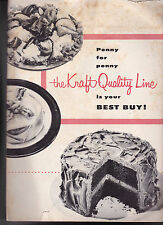 Penny for Penny the Kraft Quality Line is Your Best Buy Restaurant Ad Booklet