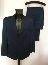 TED BAKER ENDURANCE NAVY BLUE PINSTRIPE SUIT SIZE 42/ 34 W