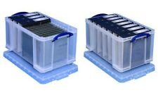 REALLY USEFUL BOX Aufbewahrungsbox transparent 48 l Bürobox Stapelbox Ordnung