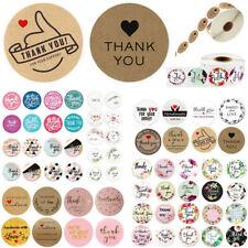 500pcs ronda hecho a mano amor gracias flor pegatinas sellos Scrapbook DIY Craft