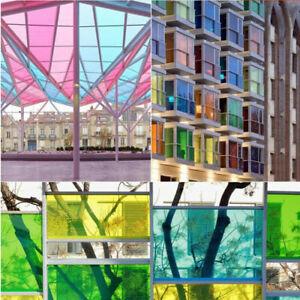 Film Coloré Trasparents Pour Embellir Les Surfaces Vitrail En 8 Couleurs