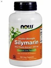 Silymarin 300 mg Double Strength 100 vCaps, Now Foods, Milk Thistle FAST SH