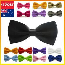 Mens Bow Tie Bowtie Black Red Wedding Tuxedo Formal Party Pretied Necktie Boy