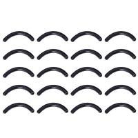 120pcs Black Eyelash Curler Refills Silicone Eyelash Curler Pads Replacement Str