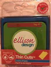 NEW Sizzix Die Tag#7 Ellison Sizzlits DieCut Scrapbooking Cardmaking Thincuts