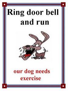 Funny joke beware the dog laminated sign
