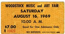 RARE!  WOODSTOCK 1969 Saturday $7  Advance Ticket AUTHENTIC