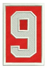 DETROIT RED WINGS PATCH GORDIE HOWE MEMORIAL #9 HOME JERSEY VERSION NHL LEGEND