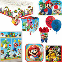 Super Mario Birthday Party Decorations Tableware Invitations Posters & Balloons