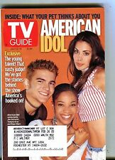 TV Guide Magazine July 13-19 2002 American Idol EX w/ML 100616jhe