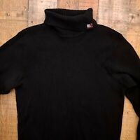 "POLO JEANS RALPH LAUREN ""Black Label"" Men's XL Black Turtle Neck Knit Sweater"