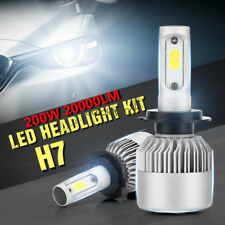 H7 PHILIPS Chips 200W 20000LM LED Headlight Kit REPLACEMENT HID XENON Bulb 6500K