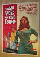 Filmplakat : Unser Boss ist eine Dame ( Senta Berger , Mario Adorf , Toto )
