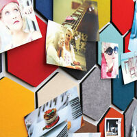 1pc Home Creative Felt Hexagon Colorful Wall Sticker Decorative Sheet Mural