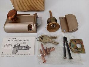 New Corbin Rim Dead Bolt Door Lock Cast Iron Vintage Door Hardware Satin Bronze