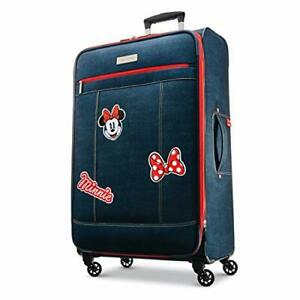 American Tourister Disney Softside Luggage with Spinner Wheels Minnie Mouse D...