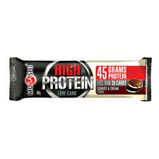 * MUSASHI P45 HIGH PROTEIN BAR 90G COOKIES AND CREAM FLAVOUR MASS GAIN BULK