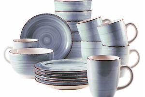 """Kaffeeservice """"Bel Tempo"""" hellblau Antik-Look 18-teilig Keramik   35169618"""