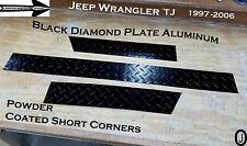 Jeep TJ  3.5 Tall Aluminum Diamond Plate SHORT Corner Set 1997-06 Powder Coated