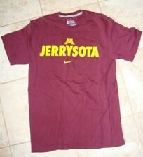 """Nike University of Minnesota """"Jerrysota"""" TCF Bank maroon and gold T-shirt Small"""
