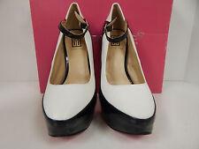 Shoedazzle Paola Women's Black/White Spectator Platform Stiletto Size 5.5M-NWD