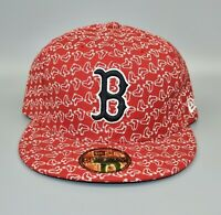 Boston Red Sox New Era 59FIFTY MLB Bravado Men's Fitted Cap Hat - Size: 7 5/8