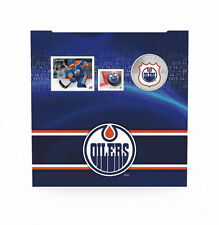 2014 Canada NHL COIN AND STAMP GIFT SET - Edmonton Oilers, 25 Cent Colorized