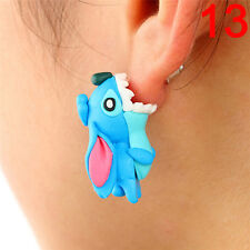 1pair Cute Soft Pottery Animal Stud Earrings Handmade Polymer Earrings Jewelry0w 1