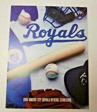 1996 KANSAS CITY ROYALS PROGRAM SCORECARD VS MINNESOTA TWINS RARE PROGRAM MLB