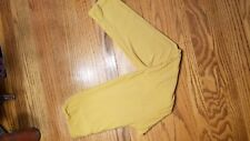 LuLaRo Leggings OS One Size Gold yellow tan solid