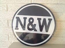 "Norfolk & Western Railway 14"" Round Logo Aluminum Sign New"