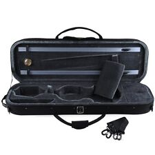 Full Size Oblong Shape Lightwight Violin Case with Hygrometer and Carry Straps