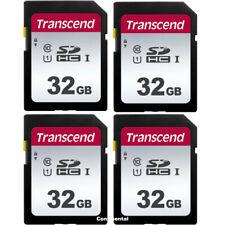 4 x Transcend 32GB SDHC UHS-1 Class 10 Memory Card for Nikon Canon Fuji Sony