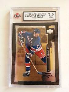 Wayne Gretzky 1997-98 Triple Black Diamond Hockey Card KSA Graded 7.5!!