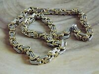 "Stainless Steel 8 mm Byzantine Box 24"" Chain Necklace Biker Necklace Gold Silver"