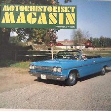 Motorhistoriskt Magasin Magazine Volvo P1900 No.2 1995 071017nonrh