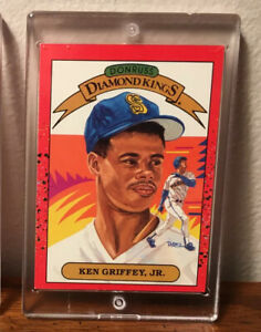 Ken Griffey Jr. 1989-90 DONRUSS Diamond Kings #4 Rookie Card