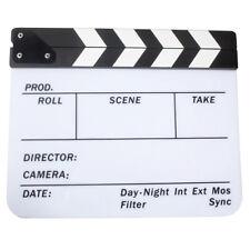 Acrylic Clapboard Dry Erase Movie Clapper Board Slate 29.8 x 24.5cm WS N9R9