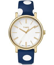TIMEX Watch Originals Dots 38mm Leather Strap TW2P63500ZR Brand New/Box