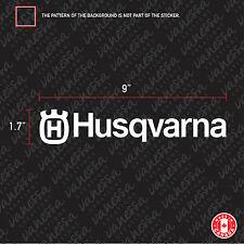 2X  HUSQVARNA MOTORCYCLE LOGO sticker vinyl decal