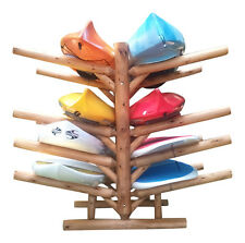 Log Kayak Rack 8-place Unfinished By Hitch Exclusives