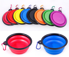 Cat Dog Pet Silicone Feeding Bowl Water Dish Feeder Travel Portable Collapsible