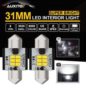 AUXITO CANBUS 31MM LED Festoon Bulb 6000K White Car Interior Map Dome Lamp EAUC