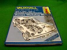 VAUXHALL CHEVETTE 1975 - 1984 1256cc USED HAYNES WORKSHOP MANUAL