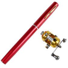 Caña vara de pescar de pluma de bolsillo mini con juego de carrete - rojo M3T5