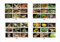 FROGS FROG 6 SOUVENIR SHEETS MNH IMPERFORATED