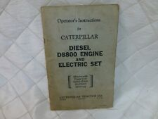 Caterpillar Diesel D8800 Engine Electric Tractor Operator Instructions Vintage