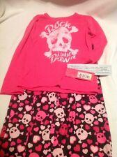 """NWT Xhilaration 4/5 Girls Pink """"Rock Until Dawn"""" Sleepwear"""
