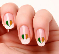 20 Nail Art Decals Transfers Stickers #708 - Irish Flag Saint Patricks Day